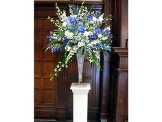 Arreglos de flores para bodas de noche azules