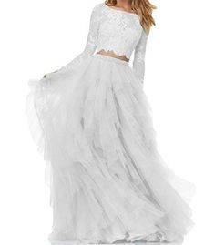 95d05b9b50 Beautiful BanZhang Women's Prom Party Dress Homecoming Dresses Lace Long  Sleeve 2 Piece B280 online.