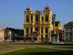 Timişoara Timisoara Romania, Notre Dame, To Go, Mansions, House Styles, City, Building, Places, Travel