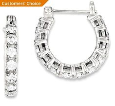 f53c3bbac ICE CARATS 925 Sterling Silver Cubic Zirconia Cz Hoop Earrings Ear Hoops  Set Fine Jewelry Gift For Women Heart ** Visit the image link more details.
