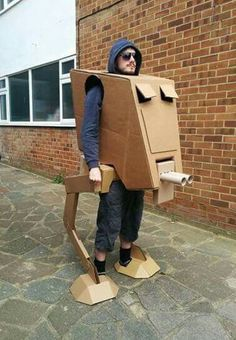 Unique Star Wars AT-ST Walker Cardboard Costume - See video! (Home-made) (star wars party)