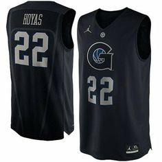 Nike Georgetown Hoyas #22 Hyper Elite Road Performance Jersey - Navy Blue