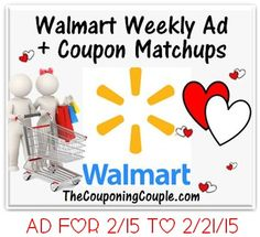 Here is the NEW  Walmart Ad for 2-15 to 2-21-15 with coupon matchups. ► http://www.thecouponingcouple.com/walmart-ad-for-2-15-to-2-21-15-coupon-matchups/  #Coupons #Couponing #CouponCommunity  Visit us at http://www.thecouponingcouple.com for more great posts!