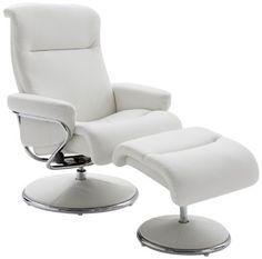 """Résultat de recherche d images pour """"fauteuil relaxation cuir blanc"""