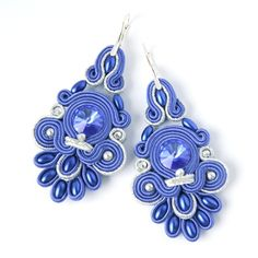 Beautiful Blue Soutache. Loving this blue with  silver.  via Marika Zakrzewska