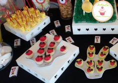 marshpop´s, mini cupcakes, mini alfajores