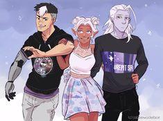 Shiro, Allura, and Lotor.