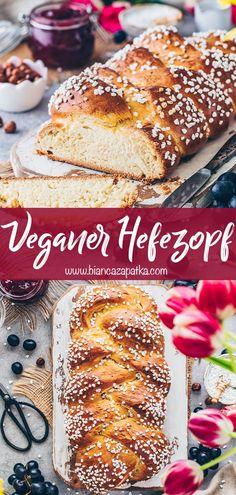Egg Free Recipes, Vegan Recipes, Cooking Recipes, Cooking Ideas, Easter Bread Recipe, Easter Recipes, Vegan Sweets, Vegan Desserts, Vegan Food