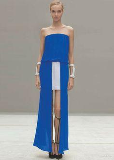Alexis Mavra Strapless Dress in Cobalt - Alexis - $383.00 - Swank Atlanta