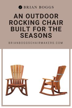 This solid wood outdoor rocking chair is made from sustainably sourced Honduran mahogany. With recycled rubber lining the runners, this rocker promotes peaceful interaction with your environment. Elegantly comfortable, our outdoor rocker supports your lumbar and arms, providing a curve where fingertips can lie soft and easy. Stainless steel hardware and precision joinery complete the weatherproofing of this durable masterpiece.  #chair #rockerchair #sunnivachair #BrianBoggs #woodchair…