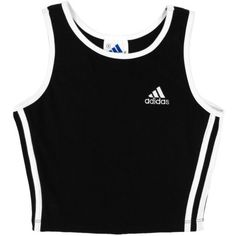 SALE Adidas Crop Top Athletic Sporty Minimal 90's Grunge Cropped Tank... (1,025 PHP) ❤ liked on Polyvore featuring tops, shirts, crop tops, crop, black white striped top, crop shirts, black and white crop top, striped top and stripe shirt