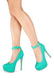 Teal high heels oh my gorgeous!