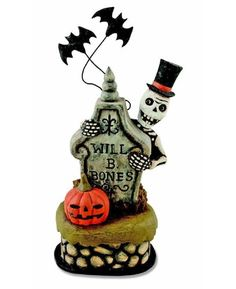 Halloween Decorations  Skeleton in the Haunted Graveyard Box  Bethany Lowe Designs  Skeleton  Tombstone  Pumpkin -- Click image for more details.