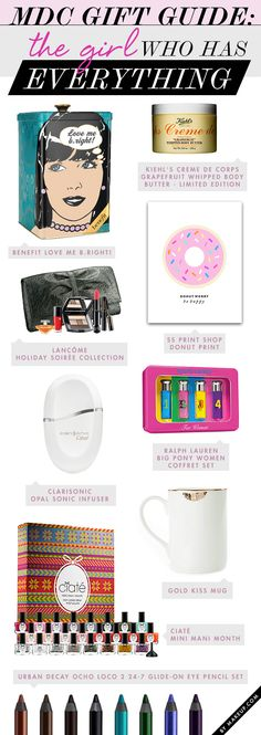gift guide for the girl who has everything