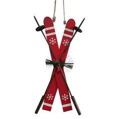 Holiday Ski Ornament