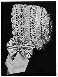 Lace Baby Bonnet PDF Vintage Crochet pattern from by KnittyDebby, $2.79