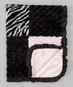 Take+a+look+at+the+SL+Fashions+30''+x+40''+Black+&+Pink+Patchwork+Stroller+Blanket+on+#zulily+today!