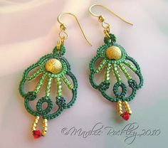 One shuttle earrings  Yarnplayer's Tatting Blog: Gallery