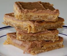 Peanut Butter Bars           I don't know about you, but at my elementary school they served AMAZING desserts . . . sometimes I find myself craving the lunch ladies' chocolate cake or homemade cinnamon rolls . . . nowadays I don't think that they even serve dessert in elementary school! Poor kids don't know what they are missing . . .  Elyse gave me this recipe a couple of months ago and it is seriously SPOT ON to what the lunch ladies served! Trust me- you have to...