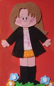 PASO A PASO CON JEANNINE: FOFUCHA PLANA MOLDES Ribbon Crafts, Diy Crafts, Punch Art, Paper Dolls, Stampin Up, Minnie Mouse, Applique, Creations, Childhood