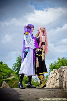 """Gakupo and Luka.  Is it weird that I REALLY want to do a couples cosplay of these two (either like this or maybe """"Magnet"""" versions)?  Only thing is that I would need to find a guy that wouldn't mind cosplaying with me XD"""