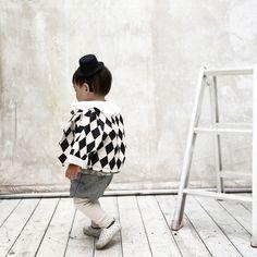 Jackets – Argyle Check pattern Jacket Coat Baby Kid Children – a unique product by MoriStudio on DaWanda