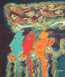 Batik Fabric Panel by Mahyar, Women(medium)