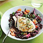 Chicken Escabeche with Cilantro Black Beans Recipe | MyRecipes.com
