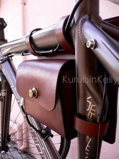 Saddlebag  #leather #bag #okinawa #bike