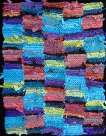 Fiesta Stripe #rug, www.rugsfromrags.com. One of a set of three requested for a housewarming gift, still in daily use six years later.