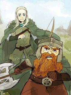 Legolas and Gimli #lordoftherings #fanart