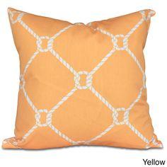 E by Design Ahoy! Geometric Print 20-inch Pillow
