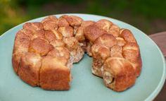 """Bless This Food: Quick Pull Apart Breakfast Bites  2 cans crescent rolls 1 c cinn sugar 1 stick melted butter  grease 8"""" pan.  Tear off bits of cresc roll, toss in butter, roll in sugar put in pan (like monkey bread) .  Pour leftover butter over dough, sprinkle iwth more sugar, bake 375 for 15-20 min for a fast easy yum in the morning"""