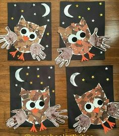 Handprint Crafts Ideas Capturing our little ones handprints is such a perfect way to record how quickly they grow and change. Handprint Crafts for Kids Ideas Kids Crafts, Daycare Crafts, Fall Crafts For Kids, Classroom Crafts, Thanksgiving Crafts, Toddler Crafts, Holiday Crafts, Art For Kids, Owl Crafts Preschool