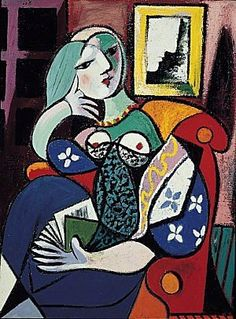 Picasso - Woman with Book, 1932. More Pins Like This At FOSTERGINGER @ Pinterest