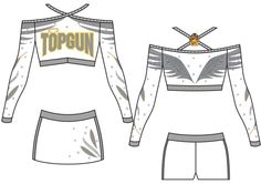 2014 Top Gun All Star Angels GK Cheerleading Uniform