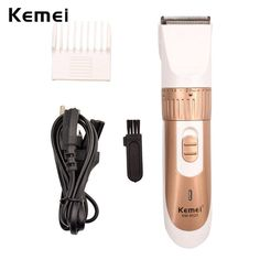 Low Price Original Kemei Rechargeable Electric Hair Clipper Beard Trimmer Hair Cutting Machine Haircut with Comb for Men S3435