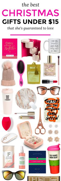 The best Christmas gift ideas for women under $15! The ultimate Christmas gift guide for women by Orlando, Florida beauty and fashion blogger Ashley Brooke Nicholas    gifts under $15, gifts for women, holiday gift guide, best holiday gifts, best Christmas gifts, affordable gift ideas, gifts for women, gifts for teens, gifts for teen girls