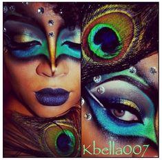peacock makeup - Buscar con Google