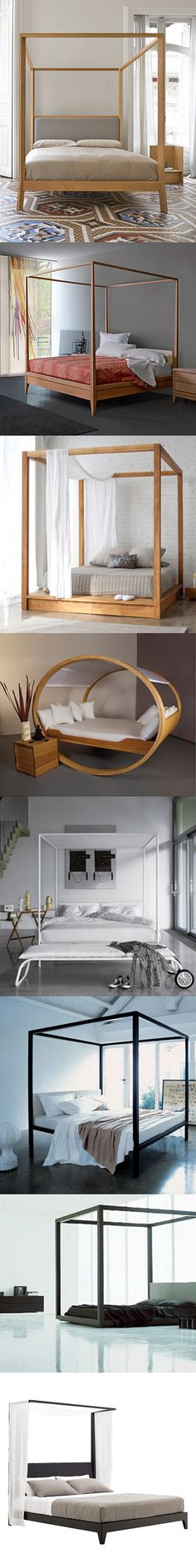 10 MODERN CANOPY BEDS Who said that modern isn't romantic?