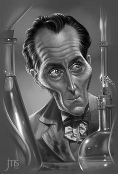 Cushing caricature by Artist Javier Martinez Sanchez