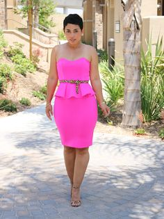 DIY Neon Pink Dress...always fab! @Mimi G. Style