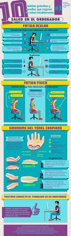 """Si bien pasar demasiado tiempo sentado/a frente a un ordenador puede ocasionar problemas oculares, dolores de cuello, etcétera, podemos llevar a cabo una serie de """"ejercicios"""" de cuando en cuando, para tratar de prevenirlos."""