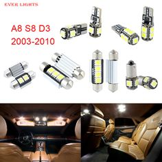 22pcs LED Canbus Interior Lights Kit Package For Audi A8 S8 D3 (2003-2010)