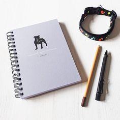personalised staffie journal