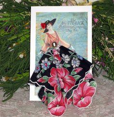Butterick Fashion Keepsake Hanky Card by onceuponahanky on Etsy, $10.00