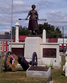 Molly Pitcher grave site where I grew up in Carlisle, PA.