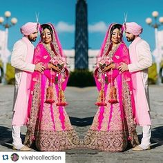 """Beautiful lengha created by our preferred vendor @vivahcollection! Love the pink and the detailed work   #Repost @vivahcollection with @repostapp. ・・・ """"Hey Gagan!! Thank you so much for helping me bring my vision to life! Everybody loved my lehnga!! I definitely felt like princess!!! Thank you once again!"""" The most perfect outfit for the most special ocasion! The details on Kirans custom designed outfit are to die for!  Thank you so much for the feedback, we love to make our clients happy!"""