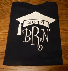 Graduation Shirt - Personalized with 3 Letter Monogram and Graduation Cap on Etsy, $21.95 5th Grade Graduation, Graduation Shirts, Kindergarten Graduation, Graduation Pictures, Graduation Cards, Monogram Shirts, Monogram Letters, Anchor Monogram, Circuit Projects