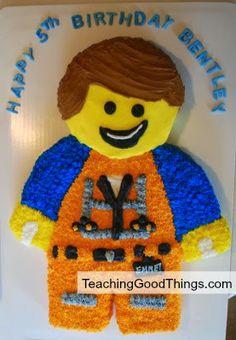 How to Make a Lego Man Cake - Teaching Good Things